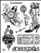 Viva Decor Clear Silicone A5 Stamp Set - Steampunk Christmas - 4003 116 00